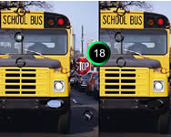 School bus 7 difference 2 szem�lyes j�t�kok ingyen