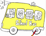 Tiny school bus 2 szem�lyes j�t�kok